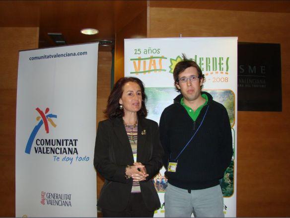 Ricardo Rodríguez junto con Carmen Aycart Directora del Programa Vías Verdes