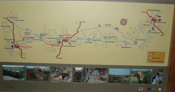 Panel en Blesa (Teruel)